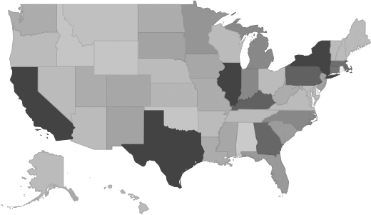Sample US Market Size Map